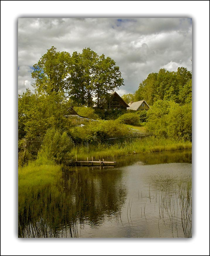 "photo ""Village etude"" tags: landscape, summer, water"