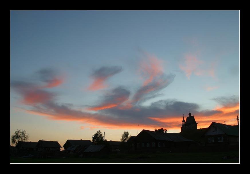 "photo ""Village Vershinino. Kenozero."" tags: landscape, sunset"