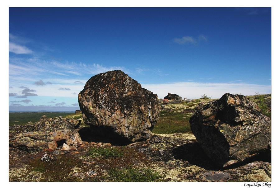 "photo ""Tundra, Kola peninsula, up north of Russia"" tags: travel, landscape,"
