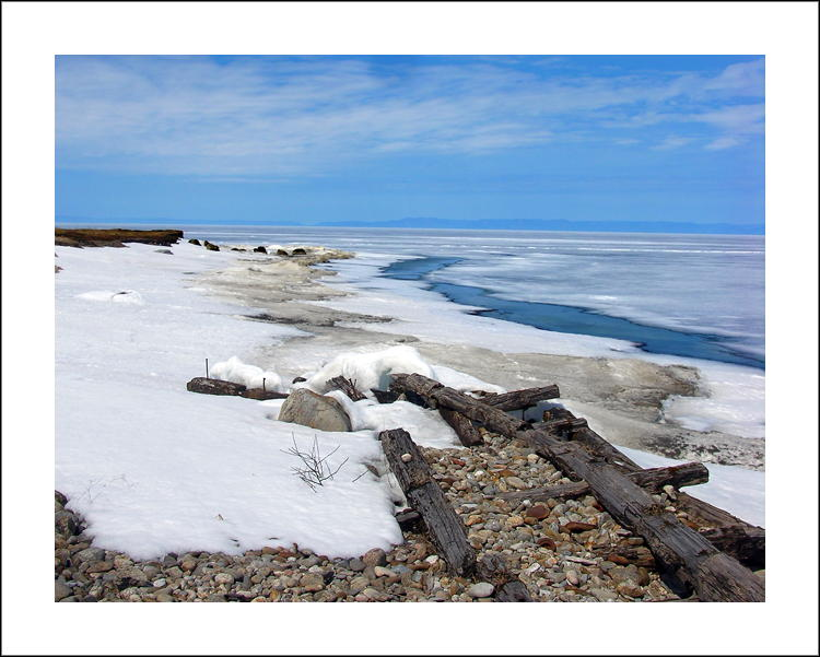 "photo ""Spring. Old quay. Baikal"" tags: landscape, spring"