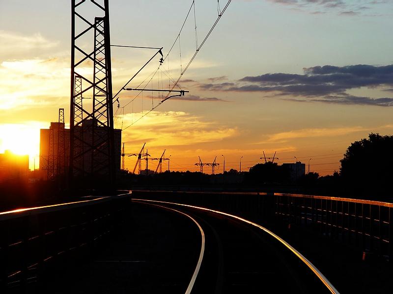 """photo """"Rail declines"""" tags: landscape, sunset"""