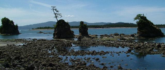 """фото """"Three Graces At Low Tide"""" метки: пейзаж, путешествия, Северная Америка, вода"""