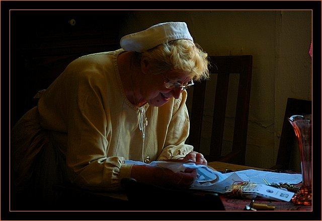 "photo ""grandma"" tags: portrait, woman"