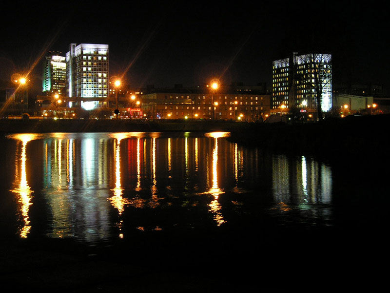 "photo ""Minsk, Masherova av."" tags: architecture, landscape,"