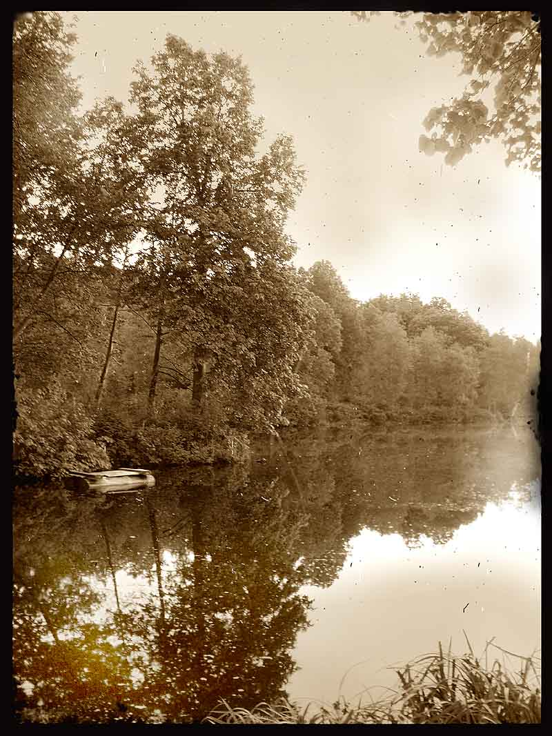 "photo ""old world: the lake"" tags: black&white,"