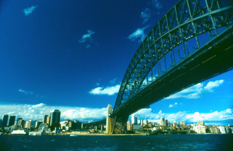"photo ""Bridge To Manley"" tags: architecture, travel, landscape, Australia"