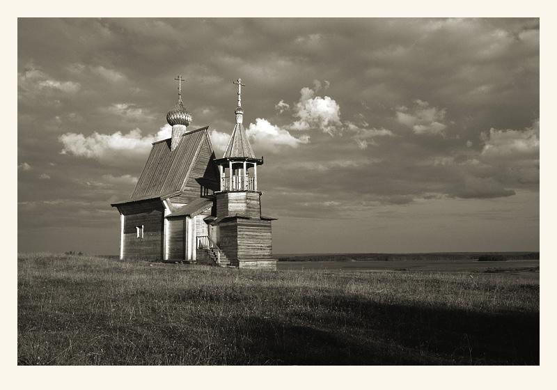 "photo ""Kenozero. St. Nicolays chapel"" tags: landscape,"