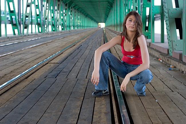 """photo """"under the bridge..."""" tags: portrait, misc., woman"""