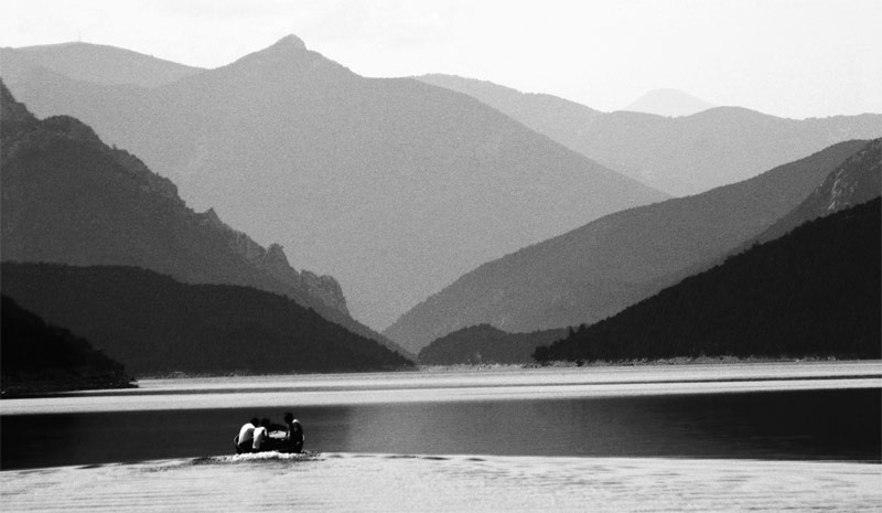 "photo ""***Lake***"" tags: landscape, black&white, water"