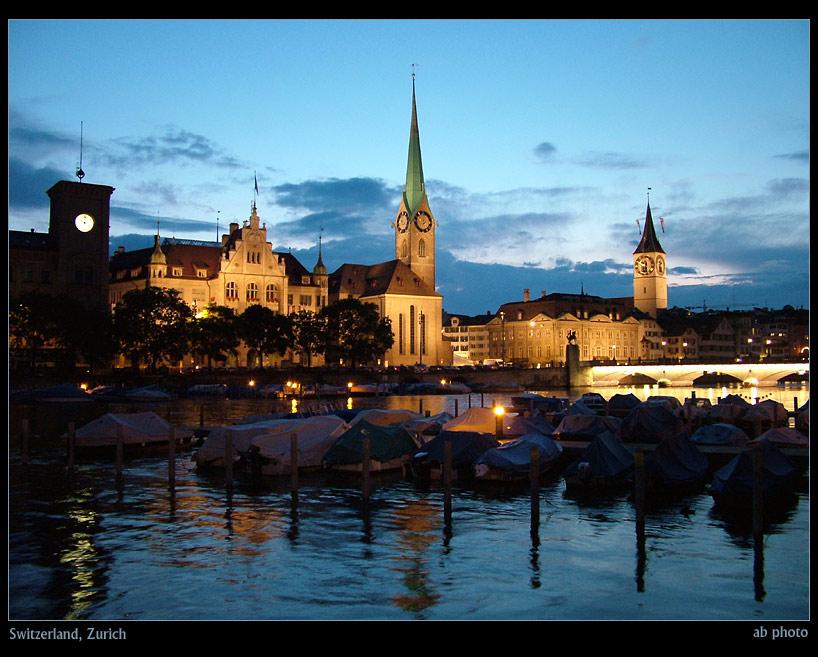 "photo ""Zurich"" tags: travel, landscape, Europe, night"
