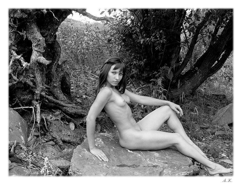 "photo ""Marsh evil spirits"" tags: nude, black&white,"
