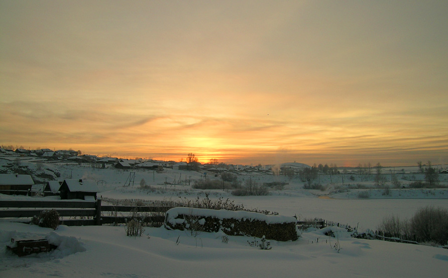 "фото ""немного о Зиме"" метки: пейзаж, закат, зима"