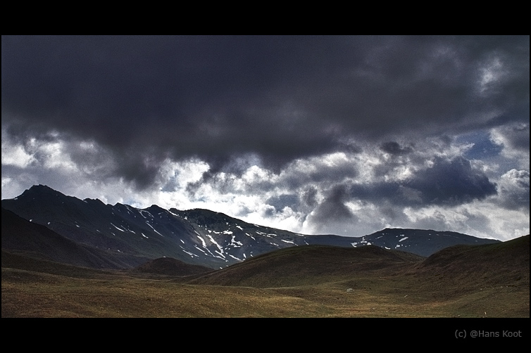 "photo ""and the land echoed the sky...."" tags: landscape, clouds, mountains"