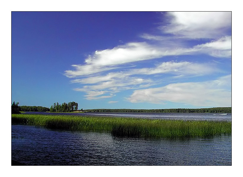 "photo ""Dark blue distances"" tags: landscape, summer, water"
