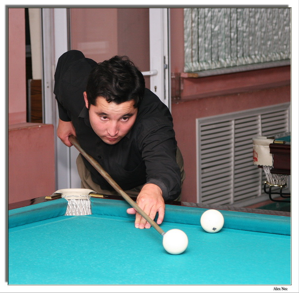 "photo ""The Master (... Or playing "" Russian Billiards "")"" tags: genre,"