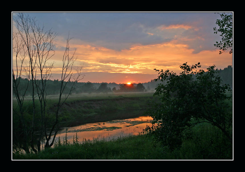 "photo ""Sunset on Nerl-river"" tags: landscape, summer, sunset"