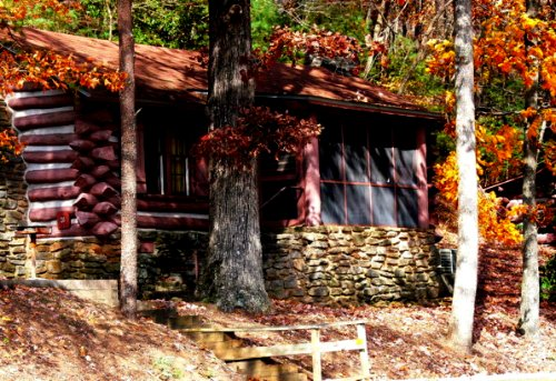 "photo ""Cabin in the Woods"" tags: architecture, landscape, mountains"