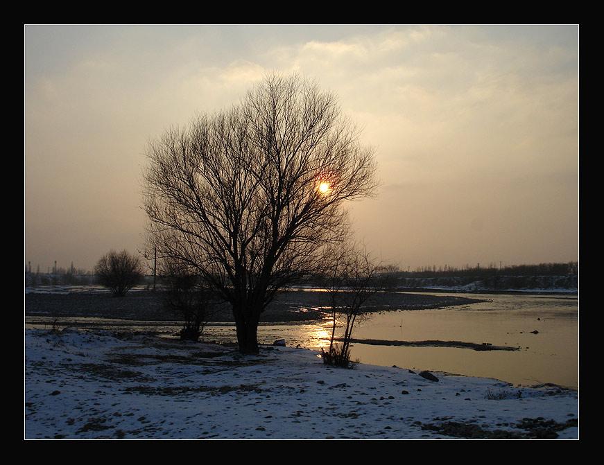 "фото ""Вечер"" метки: пейзаж, зима"