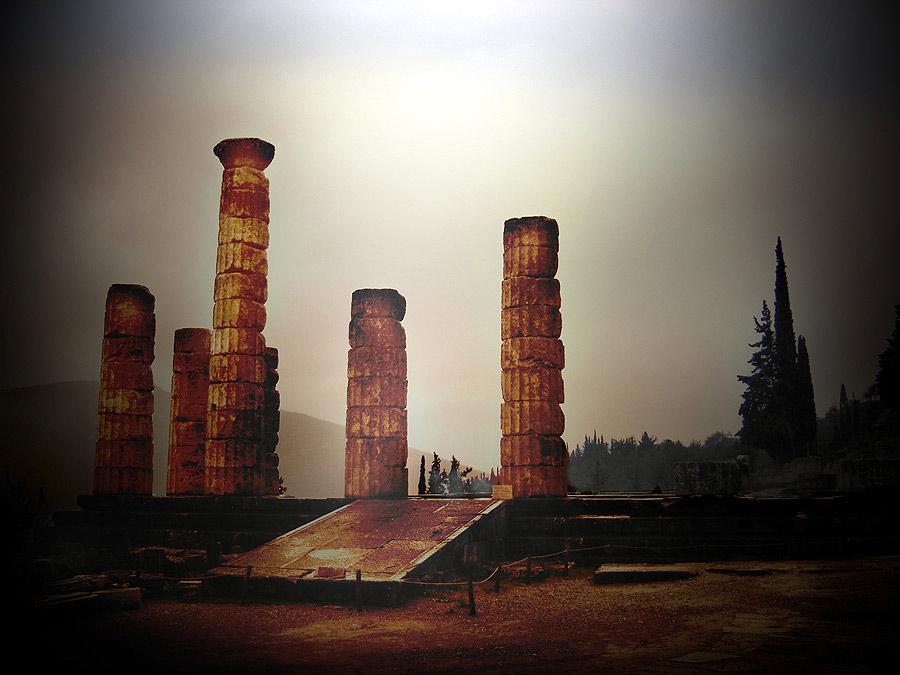 """фото """"The Temple to Apollo at Delphi"""" метки: архитектура, путешествия, пейзаж, Европа"""