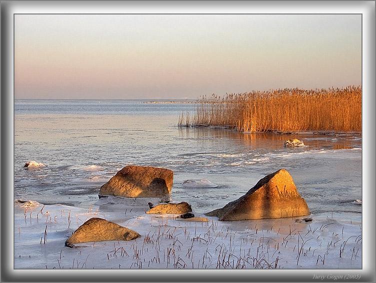 """фото """"Зимний залив #1"""" метки: пейзаж, вода, зима"""