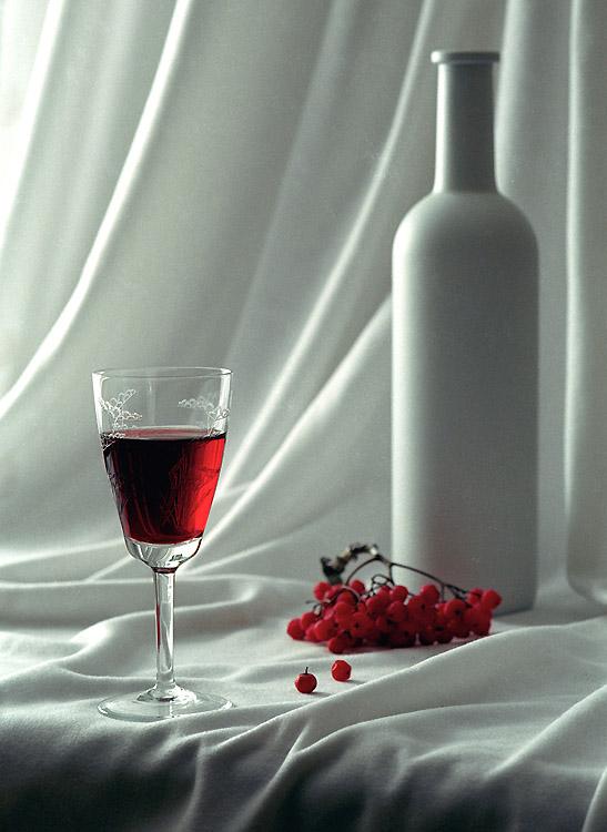 Красная рябина красное вино бокал, остальное.