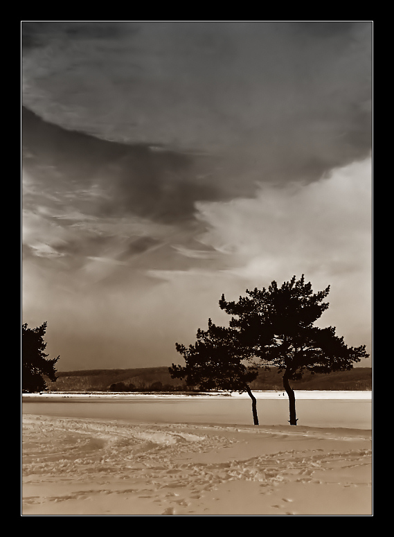 """фото """"Хмурые небеса"""" метки: пейзаж, зима, облака"""