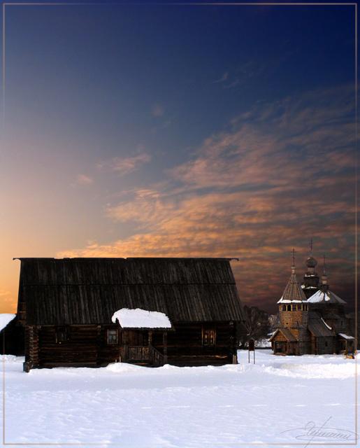 """фото """"История."""" метки: архитектура, пейзаж, закат"""