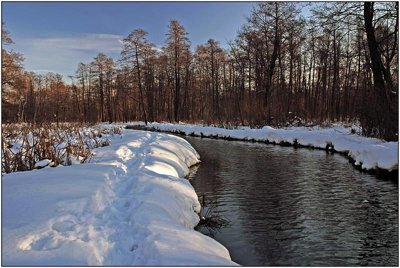 "фото ""Среди снежных берегов"" метки: пейзаж, вода, зима"