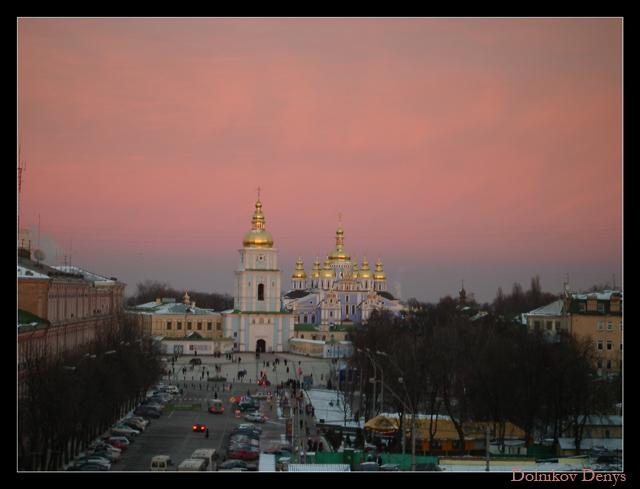 "фото ""Киевские церкви"" метки: архитектура, пейзаж, закат"