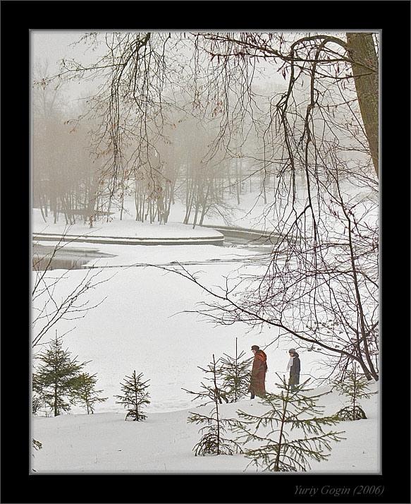 """фото """"Затерявшиеся в зимнем парке"""" метки: пейзаж, зима, лес"""