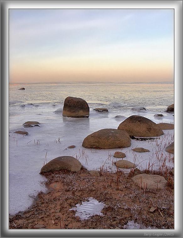 """фото """"Зимний залив #3"""" метки: пейзаж, вода, зима"""