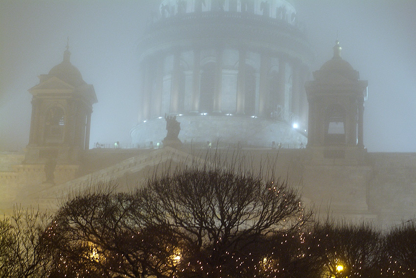 "фото ""Январский туман"" метки: архитектура, пейзаж, зима"