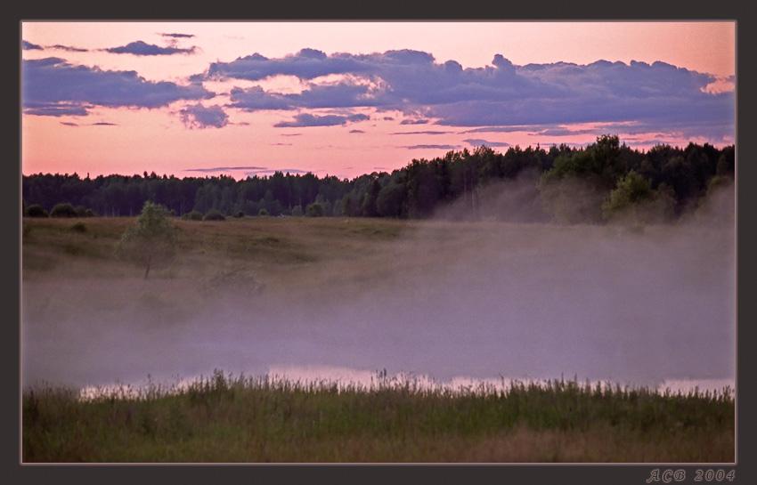 """фото """"туманный закат"""" метки: пейзаж, вода, закат"""