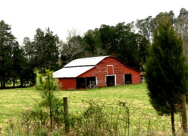 """photo """"Red Barn"""" tags: landscape, architecture,"""