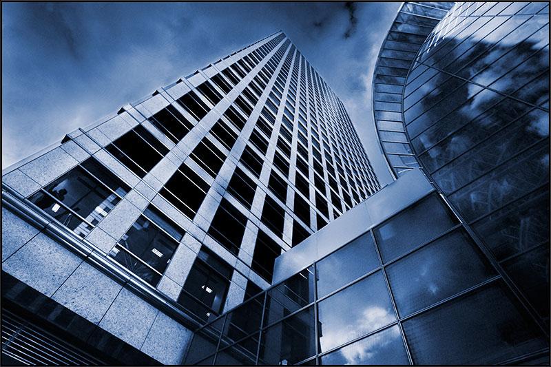 """фото """"Canary Wharf (6) Duotone"""" метки: архитектура, пейзаж,"""