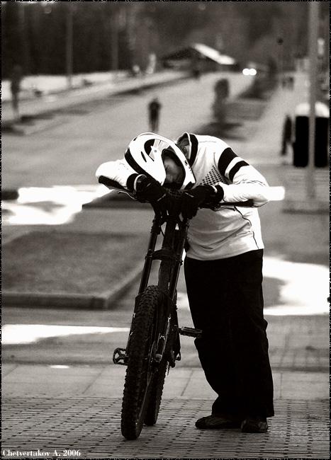 """фото """"Bike driving."""" метки: портрет, спорт, мужчина"""