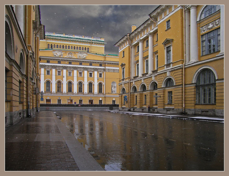 "photo ""Wet snow"" tags: architecture, travel, landscape, Europe"