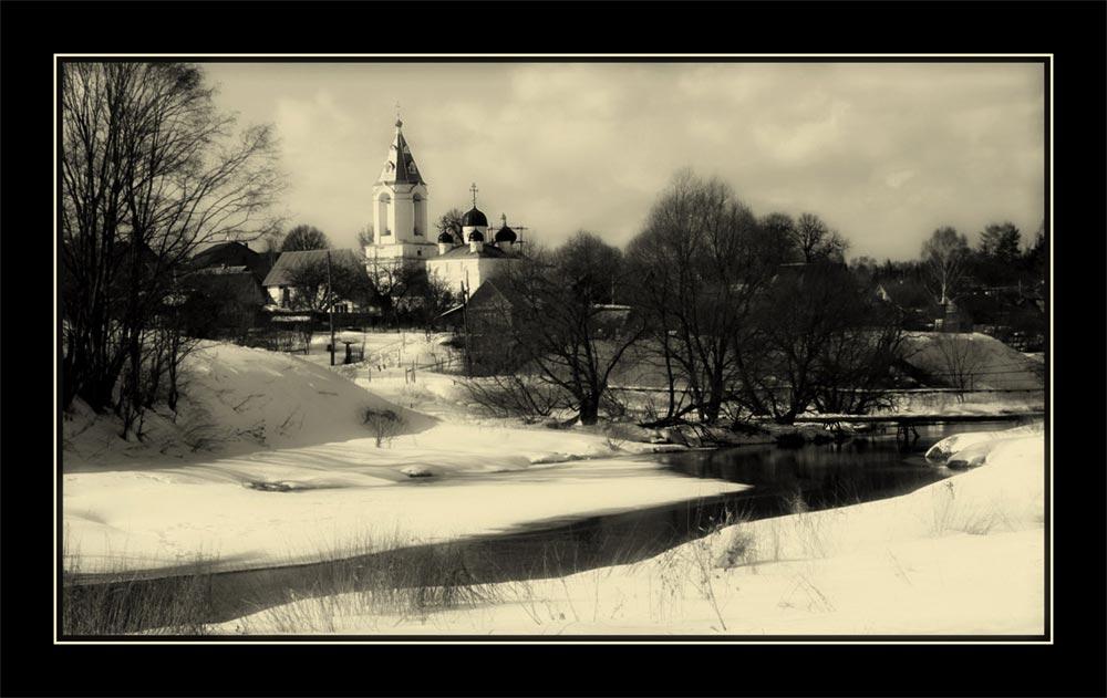 "photo ""~^~"" tags: black&white, landscape, spring"