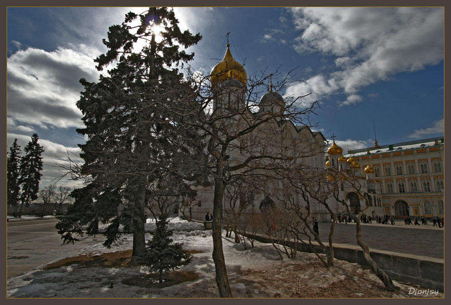 "photo ""Spring in the Kremlin"" tags: architecture, landscape, spring"