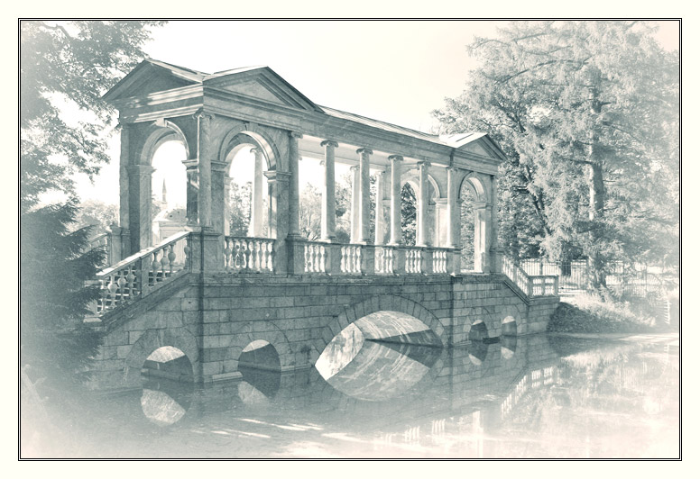"photo ""The Marble Bridge"" tags: architecture, black&white, landscape,"