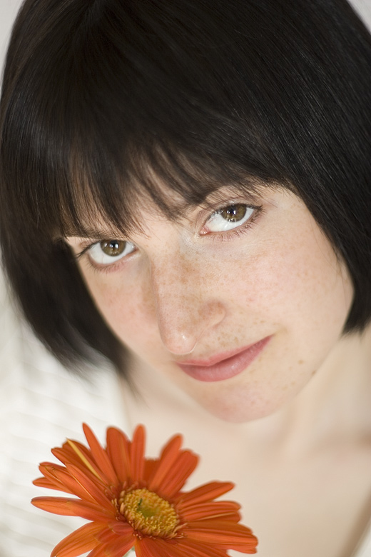 "photo ""My Lady with the Orange Flower"" tags: portrait, woman"
