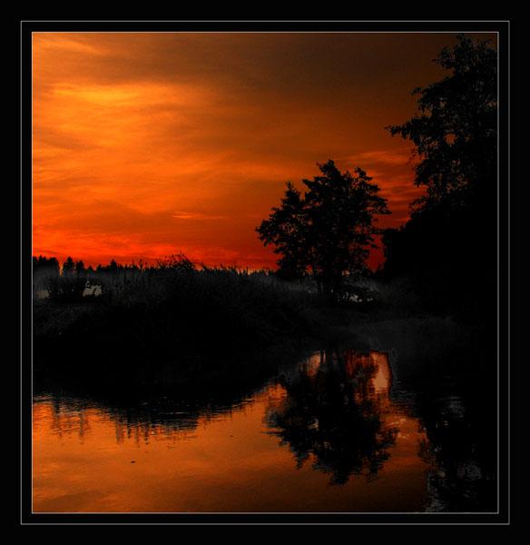 "photo ""Fog"" tags: landscape, autumn, sunset"