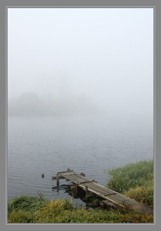 "photo ""autumn morning misty"" tags: landscape, water"