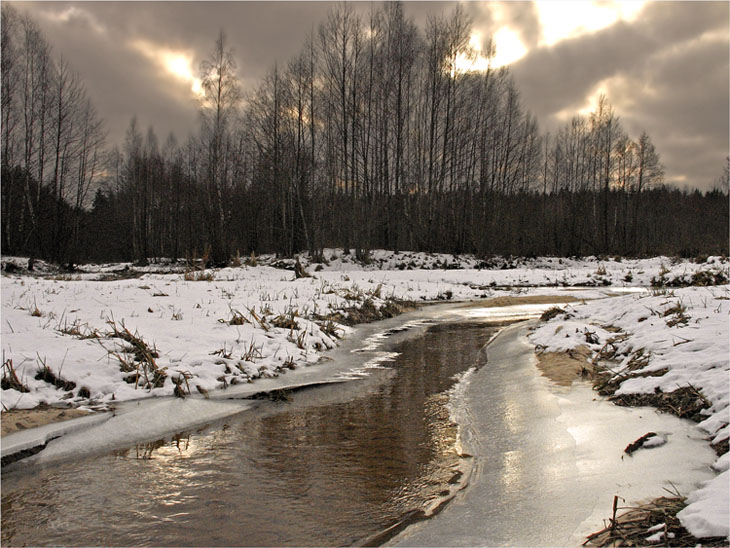 "photo ""December."" tags: landscape, water"