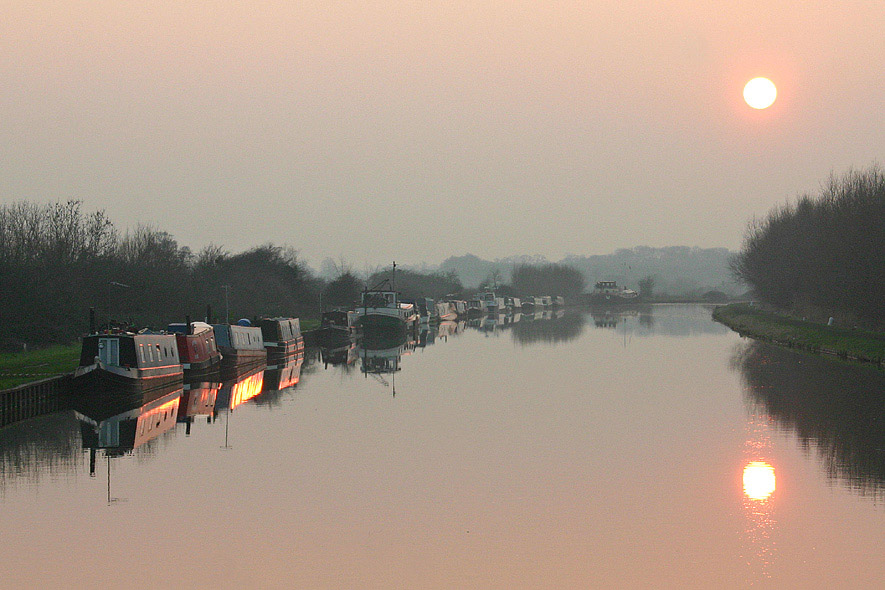 "фото ""Slimbridge Sunset"" метки: пейзаж, вода, закат"