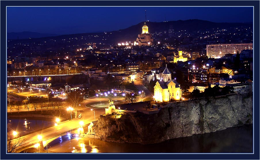 "photo ""Night Tbilisi"" tags: architecture, landscape, night"
