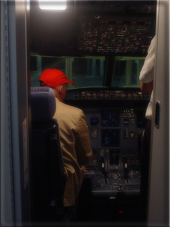 "photo ""Night flight with Niki Lauda"" tags: travel,"