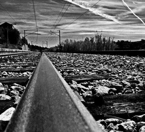 "photo ""To nowhere..."" tags: black&white,"