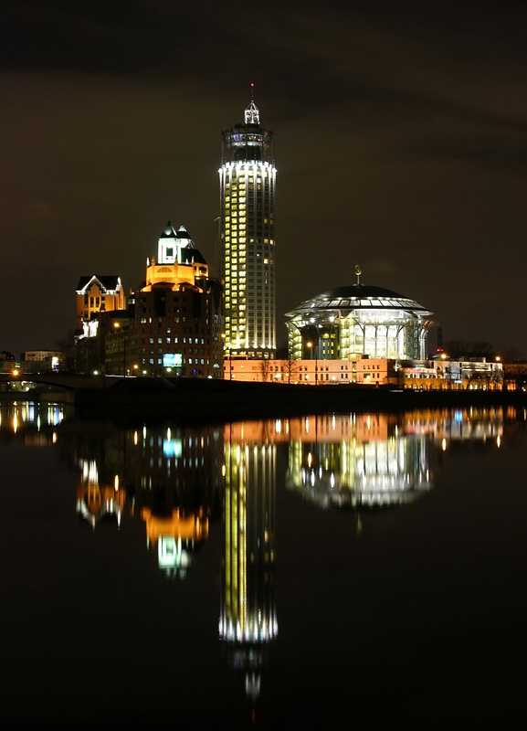 "photo ""View and reflection"" tags: landscape, night"