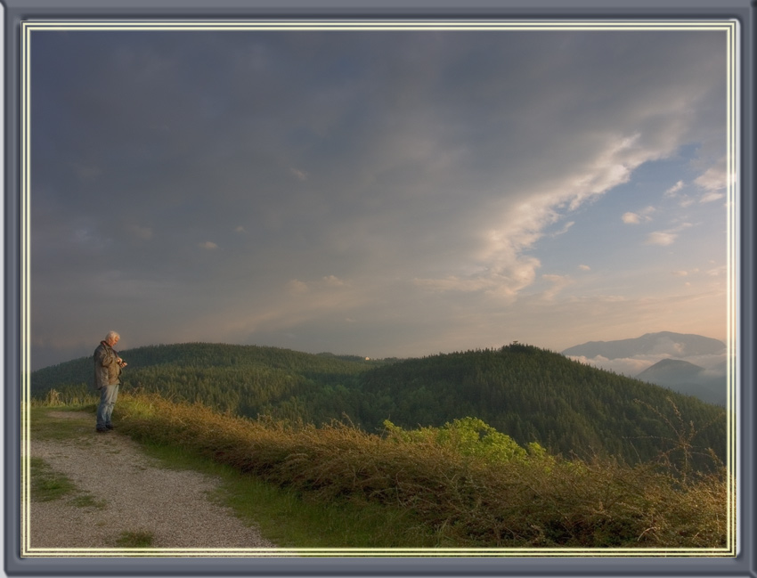 "photo ""Waiting for sunset"" tags: landscape, mountains, sunset"
